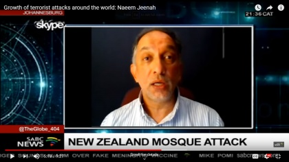 Growth of terrorist attacks around the world: Naeem Jeenah